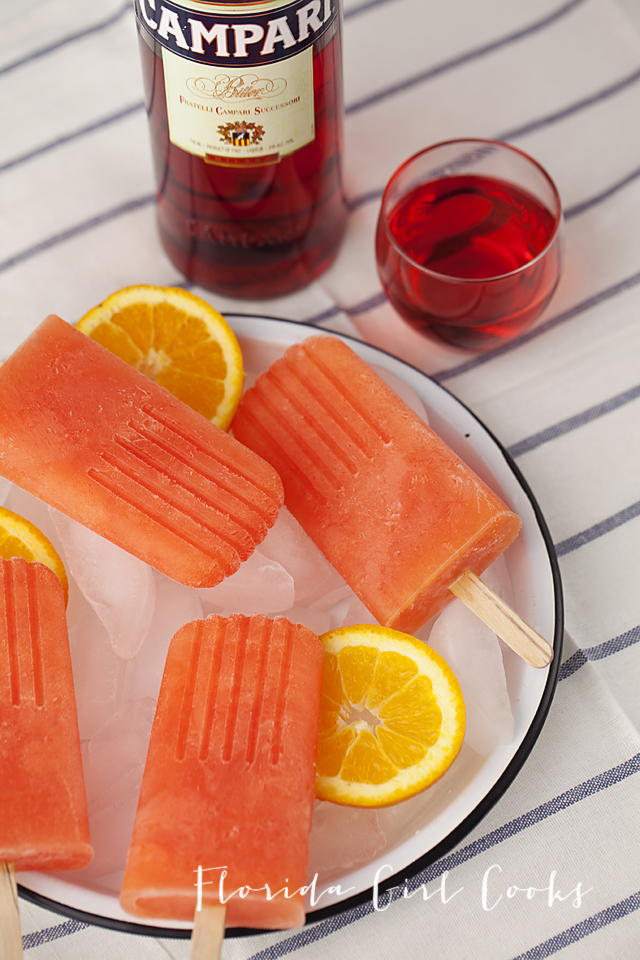 campari popsicles, popsicles, boozy pops, potails, frozen treat, summer, dessert
