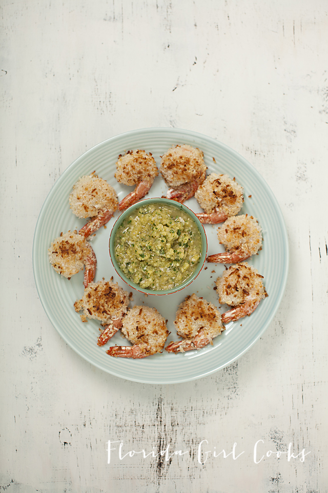 coconut shrimp pineapple-cilantro dip, summer food, coconut, seafood