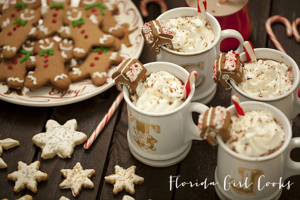 hot chocolate and sweets bar, hot chocolate, holiday menu, holiday entertaining, dessert, christmas, warmth, comfort, sweet treats